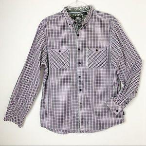 English Laundry Blaque Label Plaid Shirt Flip Cuff